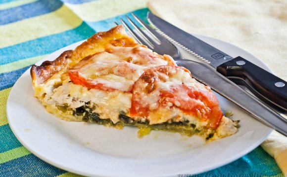 Chicken and Leek Quiche – Low
