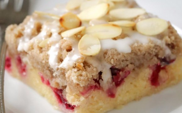 Coffee Cake Cranberry Bars