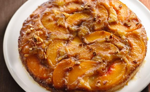 Caramelized Peach Upside-Down