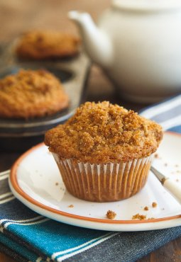 A small group of your preferred coffee dessert in muffin type. Recipe makes 4 muffins @dessertfortwo