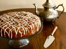 A traditional dish and record for Sour Cream Coffeecake from food historian Gil Marks regarding record kitchen area