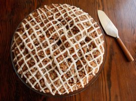a conventional meal and record for Sour Cream Coffeecake from meals historian Gil Marks from the record Kitchen
