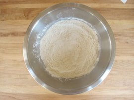 A traditional meal and history for Sour Cream Coffeecake from food historian Gil Marks on record kitchen area