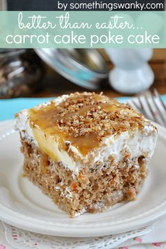 Better Than #Easter... #Carrot #Cake #Poke Cake from | This is seriously SO yum!
