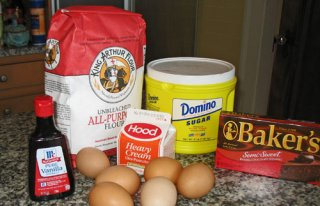Boston Cream Pie dish ingredients from boston-discovery-guide.com
