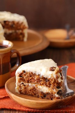 Carrot Cake Layer Cake with Buttermilk cream-cheese Frosting