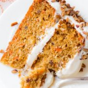Carrot Cake Recipe from sallysbakingaddiction.com | Simple, moist, packed with flavor!