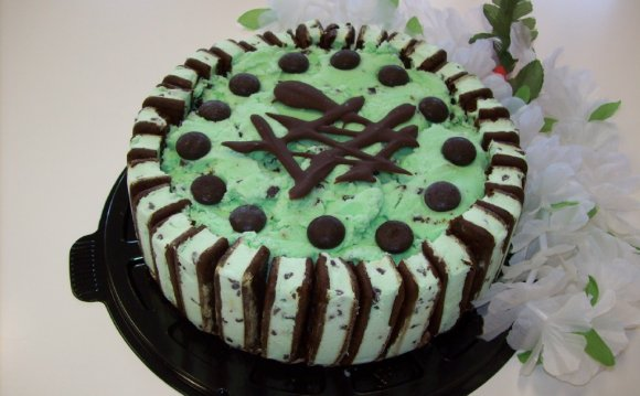 Mint Chocolate Chip Ice Cream Cake recipe