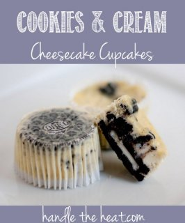 Cookies and Cream Cheesecake Cupcakes, the most used dish to my web log with over a million hits!