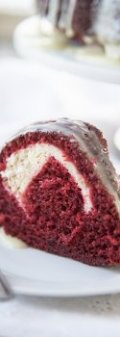 cream cheese filled red velvet cake 2