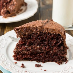 Duke's Chocolate Mayonnaise Cake - therefore damp and wealthy!
