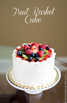 Fruit Basket Cake Recipe | dessertdesignlife.com