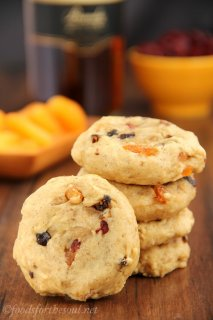 Fruitcake Cookies -- a healthy and balanced angle on holiday classic. Soft, thick & so addicting!