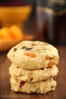 Fruitcake Cookies -- a healthier twist from the holiday classic. Smooth, dense & therefore addictive!
