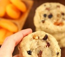 Fruitcake Cookies -- a healthy and balanced angle in the vacation classic. Smooth, thick & so addictive!