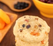 Fruitcake Cookies -- an excellent twist from the holiday classic. Soft, dense & so addictive!