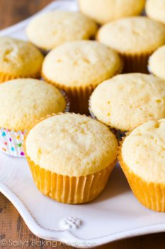 do-it-yourself Yellow Cupcakes Recipe on sallysbakingaddiction.com