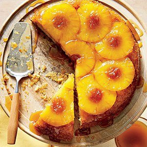 Honey-Pineapple Upside-Down Cake; picture: Hector Sanchez; Styling: Heather Chadduck Hillegas