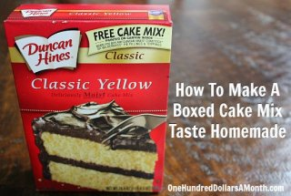 making A Boxed Cake combine Taste Homemade
