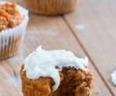 Low-fat,  high-fiber,  smooth & fluffy carrot cake cupcakes with a secretly healthier frosting and an astonishing 74percent of the suggested Vitamin A in one portion! Recipe right here: http://chocolatecoveredkatie.com/2015/04/01/healthy-carrot-cake-cupcakes/