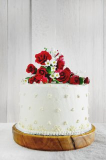 Magnolia's Red Velvet Cake with Whipped Vanilla Frosting