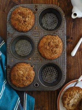 Mini coffee cakes produced in muffin pans @dessertfortwo