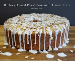 Noble Pig Buttery Almond Pound Cake with Almond Glaze You will never make another pound cake recipe