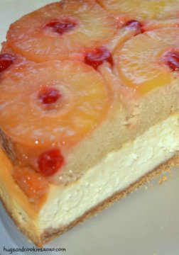 pineapple upside down cheesecake piece