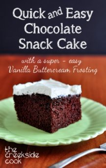fast and simple Chocolate Snack Cake on Creekside Cook