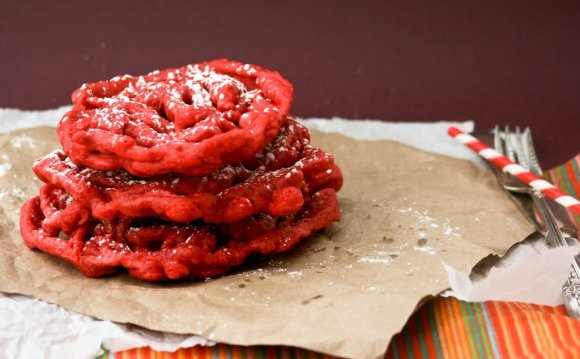 Red Velvet Funnel cake recipe