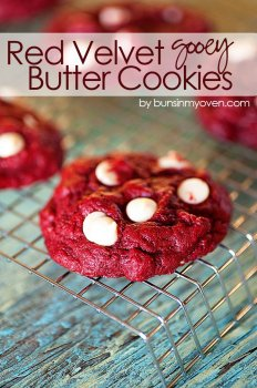 Red Velvet Gooey Butter Cookies recipe