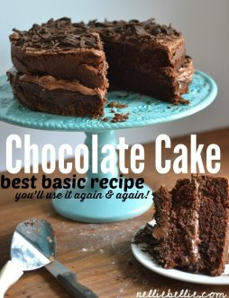 top homemade chocolate dessert! A simple, basic chocolate cake meal from scrape!
