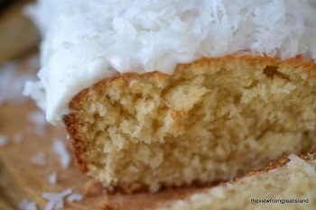 the right pound-cake packed with coconut
