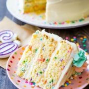 This Funfetti Layer Cake recipe is on sallysbakingaddiction.com!