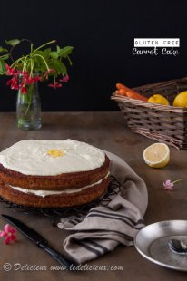 This one bowl Gluten Free Carrot Cake Recipe is the best you'll find! Deliciously moist and super easy and it is one you will make. | deliciouseveryday.com