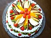 Easy fresh fruit cake recipe