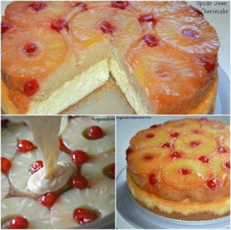 upside down cheesecake and cake dessert