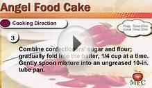 Angel Food Cake Recipe - How to Make Food Cake
