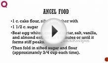 ANGEL FOOD - Cake Recipes - Quick Recipes