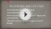 BLUEBERRY BISCUIT CAKE - Best Recipes - Top Recipes
