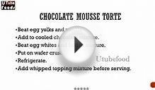 CHOCOLATE MOUSSE TORTE -- Cake Recipes -- making of cakes