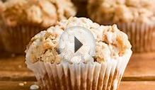 Cinnamon Coffee Cake Muffins Recipe Card - Crunchy Creamy