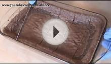 Double Chocolate Brownie Cake Recipe with Sauce / Pudding