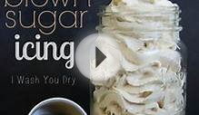 Fluffy Brown Sugar Icing Old Fashioned Vintage Recipe