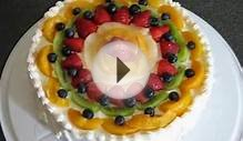 Fresh Fruits With Whipping Cream Filling Sponge Cake