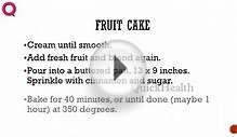 FRUIT CAKE -- Cake Recipes -- Making of Cakes