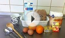 How to bake an orange cake - Easy recipe for cake