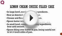 LEMON CREAM CHEESE FILLED CAKE -- Cake Recipes -- how to