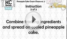 Pineapple Cake Cream Cheese no. 2 - Kitchen Cat