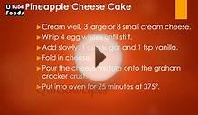 PINEAPPLE CHEESE CAKE - Pineapple Recipes - Cake Recipes